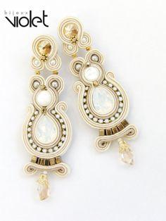 Soutache Earrings Turquiose par Violetbijoux sur Etsy