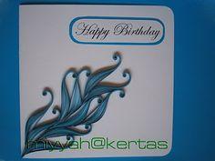 Miyyah@Kertas card quill, card cardmak, basic quill, quill card, cardpapercraft idea