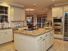White kitchen with granite counter tops - 3101 Toro Canyon, Austin, Texas 78746