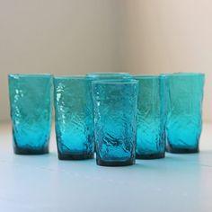 Crinkle Glass Tumbler