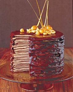 Darkest Chocolate Crepe Cake ~ this cake takes a lot of time and some effort, but it tasted amazing and turned out great!