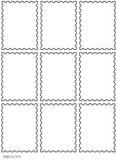Postage stamps - Free Printable Coloring Pages