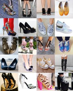 The best DIY shoes makeover projects tutorials for heels and sneakers