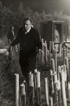 Federico Fellini by Tazio Secchiaroli (1925-1998) Satyricon, 1969
