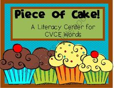 Piece of Cake!--A Literacy Center for CVCE (Silent E) Words from Red Apple Teacher on TeachersNotebook.com -  (20 pages)  -  A CVCE Word Center for your K-2 Classroom