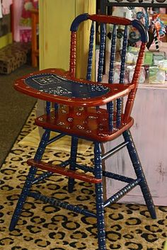 Hand painted high chair...