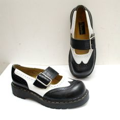 90s spectator PLATFORM shoes. black and by retrospectrovintage omg I used to have a pair!