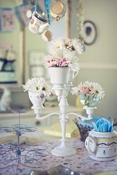 Make: Tea Cup Candelabra