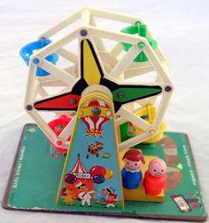 memori, remember this, little people, children toys, baby toys, vintage fisher price, ferri wheel, ferris wheels, kid