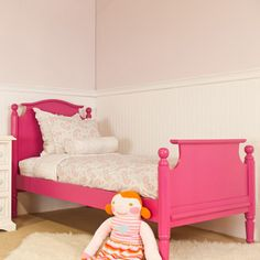Love the bed frame, the bed frame not so much. girl bedroom, girl room, bunk beds, newport cottag, twin beds, cottages, nurserykid room, cottag emili, emili bed