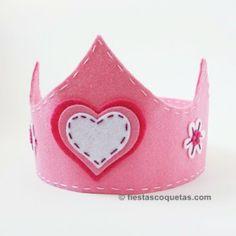 Corona princesa de fieltro de venta en: http://shop.fiestascoquetas.com de fieltro