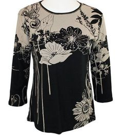 Amazon.com: Jess & Jane, 3/4 Sleeve, Black & Taupe. Makes me think of the 1930's drawings of girls with poppies in their hair.