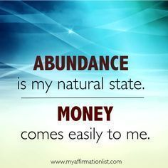 Money Affirmations.