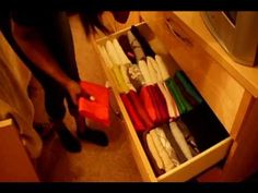 How to Organize Dresser Drawers & Fold to maximize space