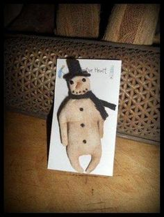 Adorable snowman pin