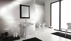 "Tuoi Marmi: Elegant 8""x20"" Wall Tile  Digital print technology gives it a classic marble look ceramich brennero, spa wwwbrennerocom, brennero spa, bath field, wall tiles, master bath, avalon tile, tuoi marmi, field tile"