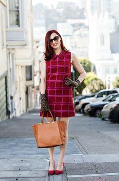MCLV Style: Retro Fashion | Moi Contre La VieMoi Contre La Vie - Red & printed printed shift dress from SF designer Alyssa Nicole