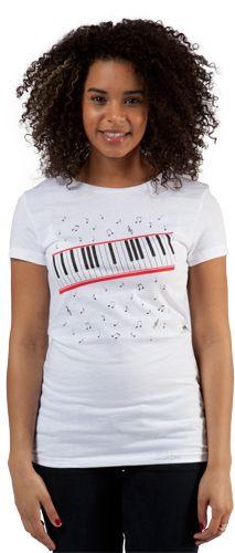 "Ladies White ""Beat It"" Video Michael Jackson T-Shirt."