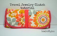 travel jewelri, clutch tutori, jewelri clutch, sew jewelry roll, sewcraftyjess