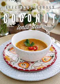 Butternut Squash Coconut and Lentil Stew