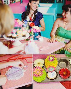 bachelorette parties, housewif bridal, bachlorett parti, 1950s inspir, bridal parties, shower theme, kara parti, parti idea, bridal showers