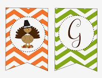 FREE Thanksgiving Dinner Printables - Give Thanks Banner