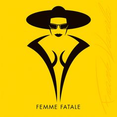 FEMME FATALE is part of a visual haiku created by Frank Varela (aka The Mr. Frank) clebrating a film genre favorite, and it can be found on https://medium.com/@themisterfrank #TheMrFrank #CONCEPTiCONS
