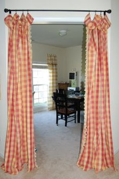 I like the curtains in the doorway.