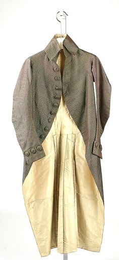 Coat 1789, French, Made of silk, cotton, and linen
