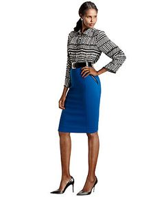 Perfect for Work! Fall Trend Report Neo Geo Tribal Print Look #macysfallstyle