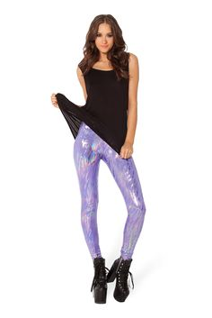 Purple Haze Leggings - LIMITED by Black Milk Clothing $80AUD