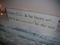 Beach Wedding Signs Destination Wedding  I love by AndTheSignSays, $30.00