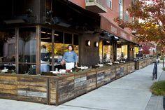 restaurant barcelona, fenc, restaurant patio design, outdoor patios, best restaurant patios atlanta, outdoor restaurant design, planters restaurants, exterior bar, cafe exterior