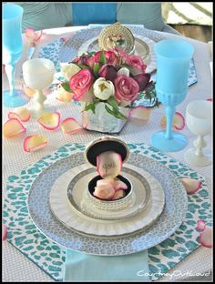 the poor sophisticate: Guest Valentines Tablescape table settings, valentine day, color, decorating ideas, valentines day decorations, place, leopard, tabl set, table designs