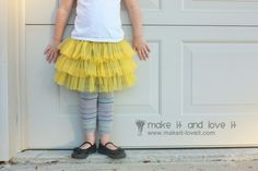 fluffy chiffon skirt tutorial