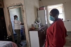 XDR-TB survivor, Xoliswa Hermanus, inspects the family home of Jonas; a woman infected with extremely drug-resistant tuberculosis (TB), HIV and diabetes. You're more vulnerable to TB when you have HIV.