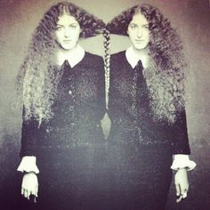 barley, braid, vintage pictures, twisted sister, sister photos, births, bakers, curly hair, twin photos