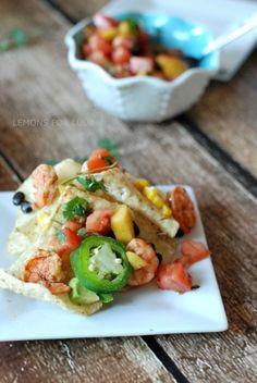 Grilled shrimp nachos www.lemonsforlulu.com
