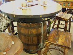 Whiskey Barrell Pub Table