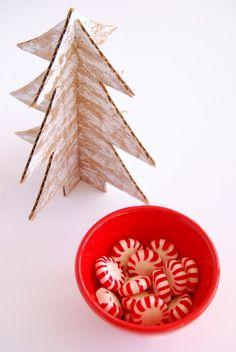 DIY Cardboard Christmas Trees