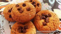 Cookies en thermomix. Estas galletas cookies con pepitas de chocolate están riquisimas. #recetas #thermomix #postres