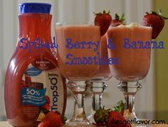 Spiked Berry and Banana Smoothie | She's Got Flavor
