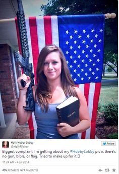 This girl takes epic pictures in front of Hobby Lobby and is driving liberals insane! I love it | Young Conservatives