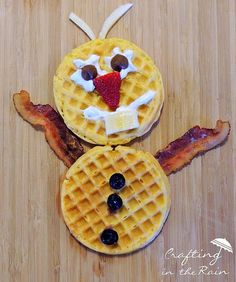 Oh. My. Goodness. #Frozen Olaf Waffles!!
