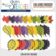 Fall Leaves FREEBIE by The 3AM Teacher!! An oldie that has been revised...  Free only on TpT