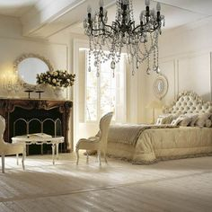 #Chandelier in #bedroom