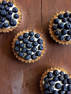 Blueberry Lemon Curd Tarts