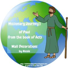 Missionary Journey's of Paul From the Book of Acts Wall Decorations by Nicole