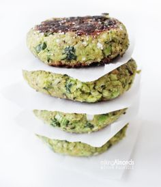 green burger with avOcado & mint dressing