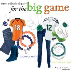 Super Style for Your Bowl Party! | Silpada Blog #Superbowl #FootballFashion #WomensFashion #Broncos #Seahawks
